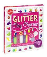 Make Glitter Clay Charms Kit