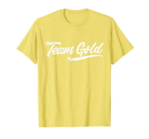 Team Gold Shirt Sleepaway Camp Color War Summer Team Spirit T-Shirt