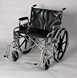 """Desk Wheelchair - 22"""" wide. This removable desk arm wheelchair with swing away removable footrest has, Weight capacity: 375lbs, Compatatible with the leading manufacturers parts and accessories, Removable swing away footrests, Heavy duty liners in the back and seat prevents fabric from stretching, Limited lifetime warranty on the frame."""
