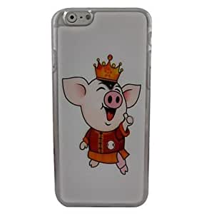 HaleyL-Cute Pig Plastic Hard Back Cover for iPhone 6