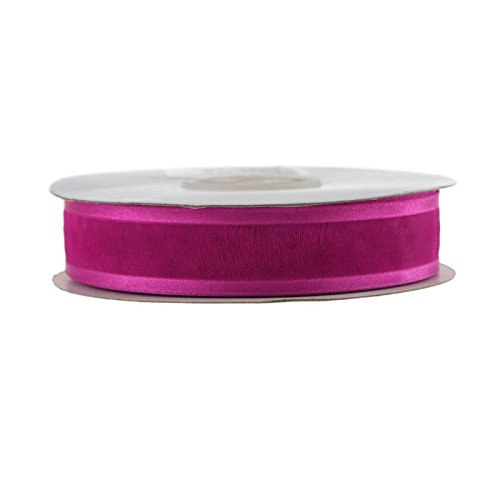 Organza Ribbon Sheer Fuchsia (Homeford Satin-Edge Sheer Organza Ribbon, 25 Yards (7/8-Inch, Fuchsia))