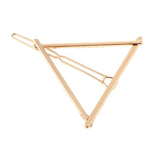 European Style Simple Ladies Metal Hair Clip Hairpin Geometric Barrettes Fashion Headwear Accessories - Triangle