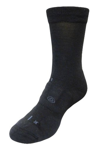 LifeSocks BasePlus Women's Merino Socks with Seacell Active, Black, Medium