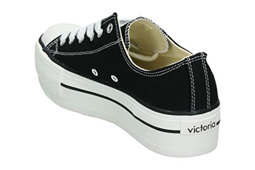 Noir Victoria Autoclave Plataforma negro Basket 10 Femme Lona nTFxqTZSrX