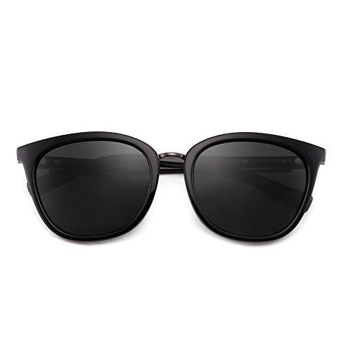 Polarizadas Anteojos Gradiente Polarizado Mujer de Gato Gafas de Clásico Cuadrado Gris Negro Hombre Ojos Retro Sol rrqvgB4