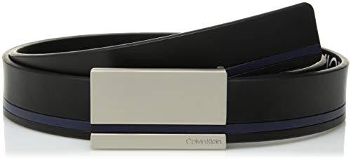 - Calvin Klein Men's 30mm Plaque Buckle Flat Strap, black, 42