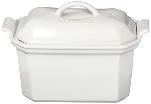 Le Creuset Heritage Stoneware 3/4-Quart Pate Terrine with Press, White by Le Creuset (Image #2)