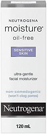 Neutrogena Oil Free Face Moisturizer for Sensitive Skin & Oily Skin, Fragrance Free, 11