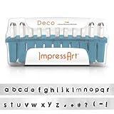 ImpressArt Deco Lowercase Letter Metal Stamps Set, 3mm