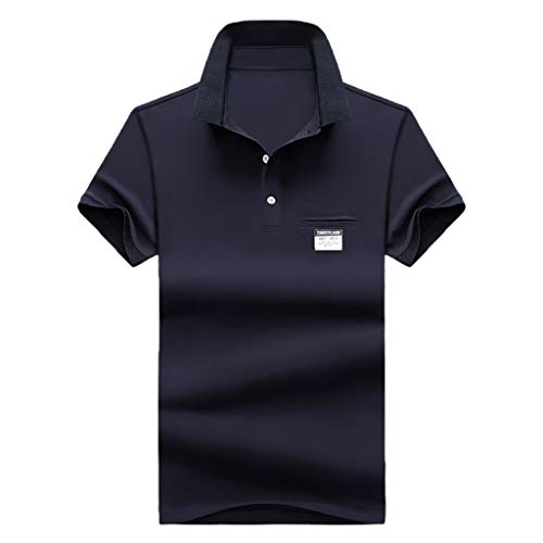 Stoota Summer Men's New Golf Shirt,Fashion Polo Shirt,Jersey Tee Short Sleeves Black