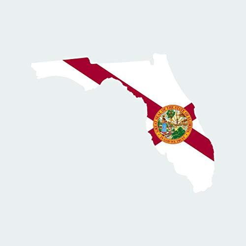 - fagraphix Florida State Shaped Flag Sticker Self Adhesive Vinyl Decal FL - 1.25 Wide