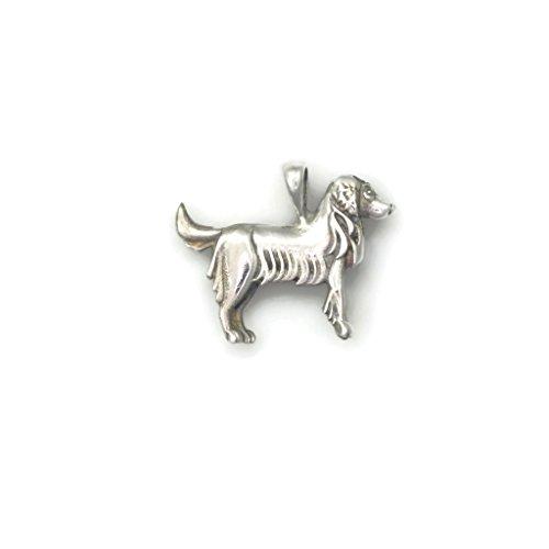 - Sterling Silver Golden Retriever Necklace, Silver Golden Retriever Pendant fr Donna Pizarro's Animal Whimsey Collection