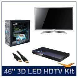 """Samsung UN46C8000 46"""" 1080p 3D LED TV, 1080p Resolution, 3D Technology, 3D HyperReal Picture Engine, Touch of Color Design, Kit Includes 2 Pairs of 3D Glasses, BD-C5900 1080p 3D Blu-ray DVD Player, Dig Pro HDMI Cable"""