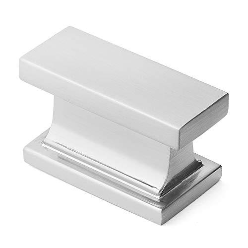 Cauldham 10 Pack Solid Rectangular Kitchen Cabinet Knobs Pulls (1-1/2