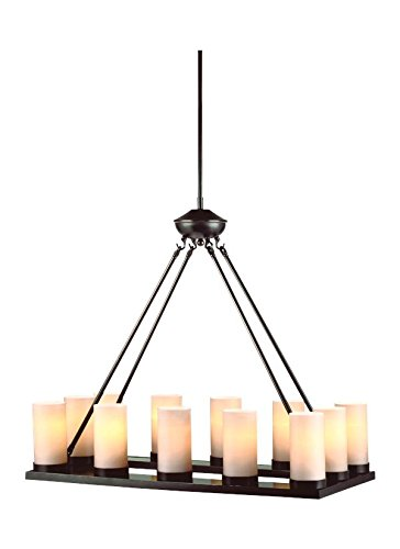 (Sea Gull Lighting 31588EN3-710 Twelve Light Chandelier Burnt Sienna)