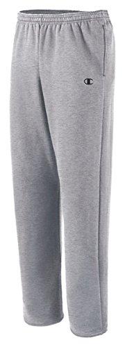 Champion Eco Fleece Open-Hem Men's Sweatpants_Oxford Gray_X-Large