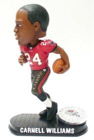 (Forever Collectibles NFL Tampa Bay Buccaneers Mens Tampa Bay Buccaneers Carnell Williams Black Base Bobblehead, Team Colors One Size )