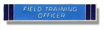 UNIFORM INSIGNIA Field Training Officer Bar - Nickel ()