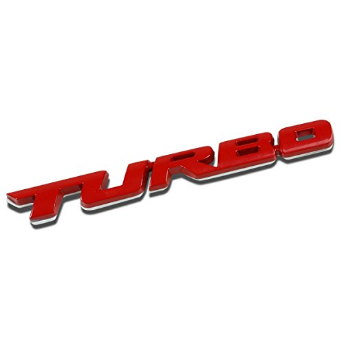(3D Letter Metal Emblem Turbo Badge (Gloss Red))