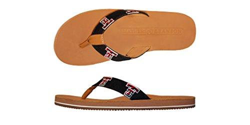 - Smathers & Branson University of Texas Handstiched Needlepoint Men's Flip Flop Sandals - Size 9
