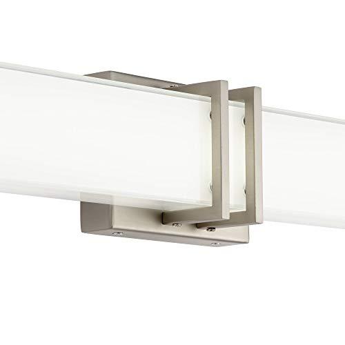 Exeter Modern Wall Light LED Brushed Nickel 36'' Vanity Fixture for Bathroom Over Mirror - Possini Euro Design by Possini Euro Design (Image #2)