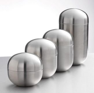 Brushed Stainless Steel Canisters Set Of 4 Amazoncouk Kitchen