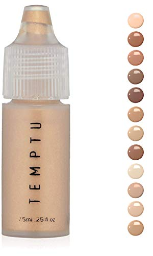 Temptu S/B Foundation Liquid Make Up: Natural Silicone Foundations for Air Brush, Sponge or Brush Application – Long Lasting Full Coverage Face Makeup with No Oil or Paraben – Ivory.25 Oz