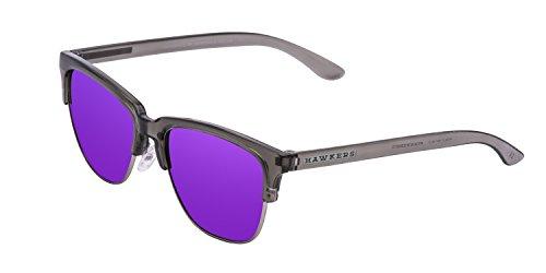 Hawkers  Crystal Grey Joker Classic, Gafas de Sol Unisex, Negro/Lila