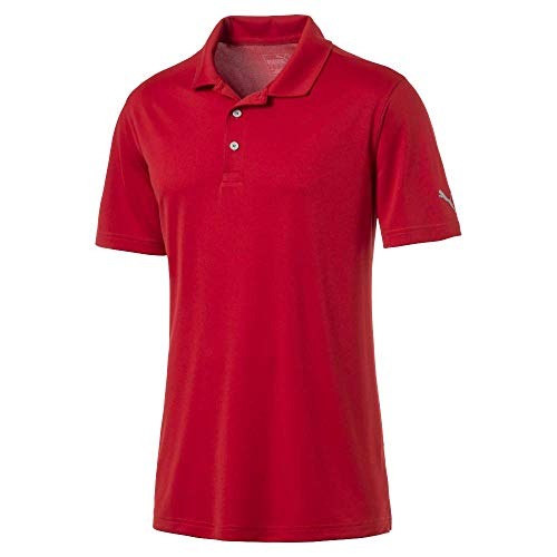 King Golf Shirt - Puma Golf Men's 2019 Rotation Polo, High Risk Red, Large