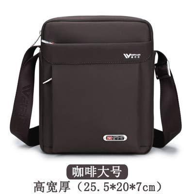 Casual Messenger Bag Mens Bag Shoulder Bag Waterproof Business Briefcase Small Bag Brown Large