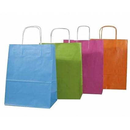 Comptoir de l Emballage - 50 Mini bolsas de Kraft turquesa ...