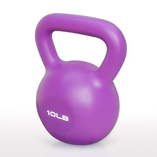 JoyBHole Kettlebell Eco-Friendly Vinyl Finish 5/10/15/20 LB for Home Gym Full-Body Workout and Strength Training