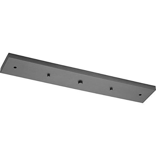 Progress Lighting P8404-143 Three-Light Linear Pendant Accessory Canopy, Black (Pendant Three Light Canopy)