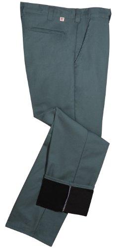 Big Bill Twill Work (Big and Tall Fleece Lined Work Pants (Loden Green, 50 Waist/32 Length))