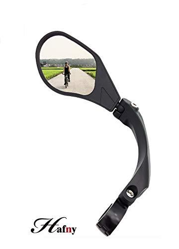 Hafny 2019 New Handlebar Bike Mirror, HD,Blast-Resistant, Glass Lens, HF-MR088LS (Left)