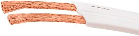 DCSk 10m - 2 x 1,5 mm² Cable de Altavoces Plano y Blanco I Cable ...