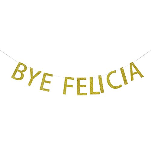 Gold Glitter Bye Felicia Banner | Going Away Party Decorations | Funny Banner Bunting | Photo Props | Graduation Banner | Relocation | Job Change | Career - To Make How Photo Wall A Booth
