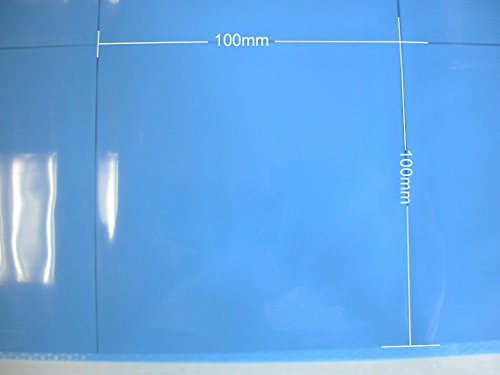BEST 100mmx100mm 2.0mm CPU GPU IC Chip Heatsink Silicone Compound Blue Thermal Conductive Pad for Computer Tablet Play Station PS3 and Any Other Proper Electronic Products