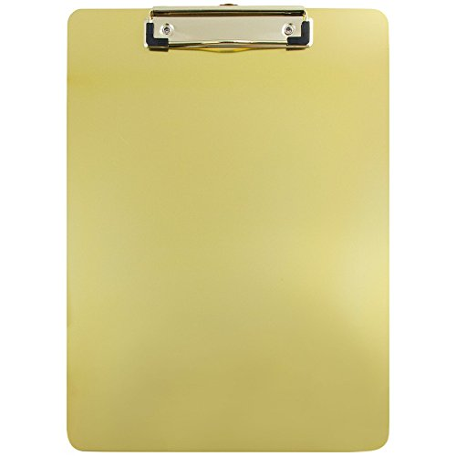 JAM Paper Aluminum Clipboards - 9 x 12 1/2 in - Gold Clipboard - Sold Individually