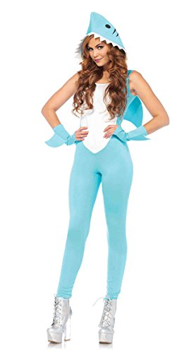 Leg Avenue Women's Cute Shark Halloween Costume, Aqua, Medium for $<!--$37.84-->