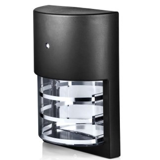 Hyperikon LED Porch Sconce Light, 6W, Modern Outdoor Wall Lamp, 4000K Daylight, Black, Photocell, 2 Pack