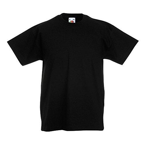 Fruit of the Loom - Kinder T-Shirt 'Kids Original T' / Black, 164