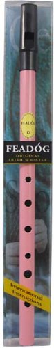 Feadog Brass D Whistle Pack - Pink ()