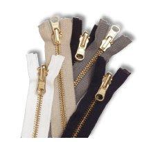 Zipper #5 Brass Reversible 26
