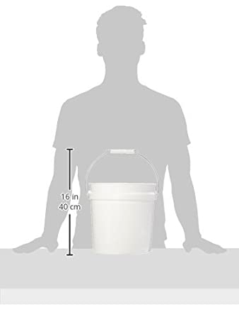 LEAKTITE 2GLSKD 2-Gallon  White Plastic Pail