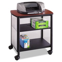 * Impromptu Machine Stand, 1-Shelf, 26-1/4w x 21d x 26-1/2h, Cherry/Blac