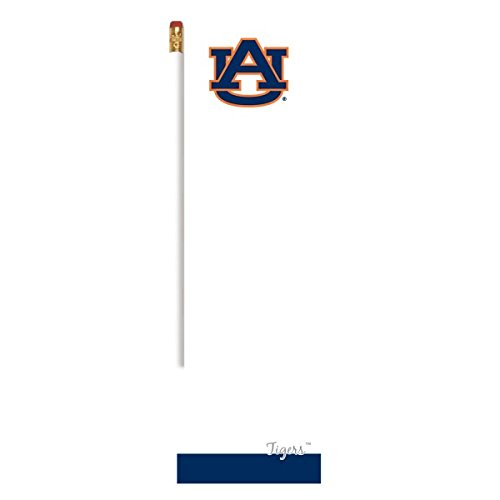 (Long Collegiate Magnetic Note Pad with Pencil Perfect for the Fridge Auburn University Tigers War Eagle)