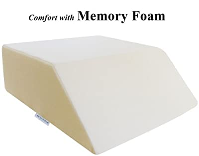"""InteVision Ortho Bed Wedge with High Quality, Removable Cover (Size: 8"""" x 21"""" x 24"""". Color: Ivory)"""