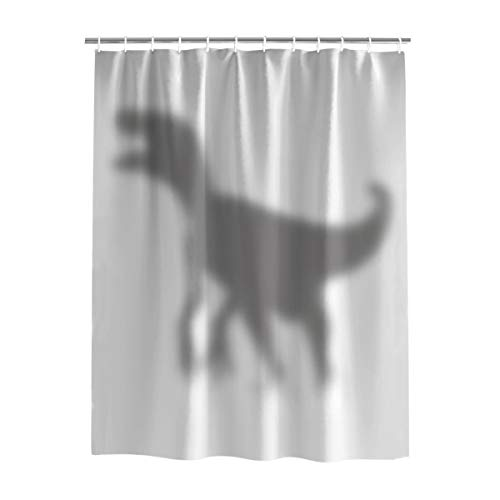 - YEHO Art Gallery Fabric Bathroom Shower Curtain Set with Hooks,The Silhouette Shadow of Dinosaur Animal Pattern Curtain for Bath Room Home Decor,Curtains for Bath Room Washable,36 x 78 Inch