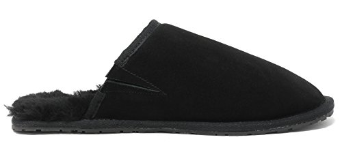 Dream Pairs Mens Di Pelle Di Pecora Mocassino Pantofole Pantofole Avalon-black